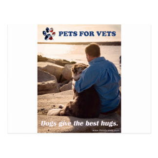 Dogs give the best hugs. postcard
