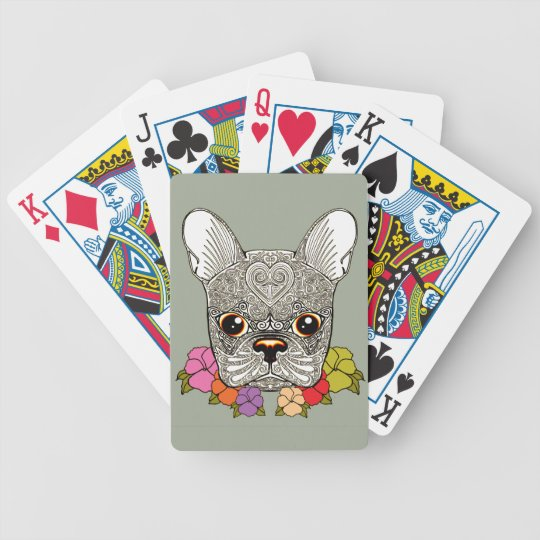 Dog's Head Bicycle Playing Cards