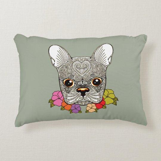 Dog's Head Decorative Cushion