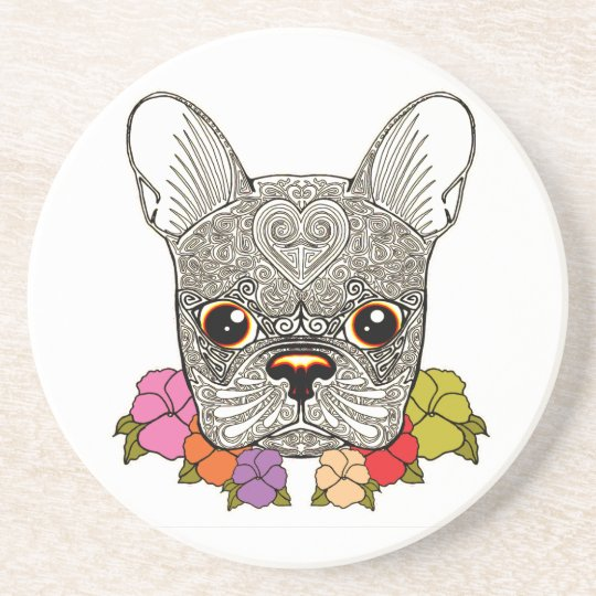 Dog's Head Sandstone Coaster