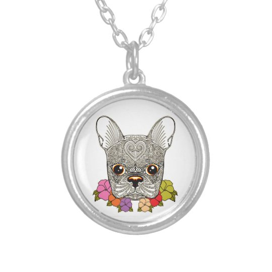 Dog's Head Silver Plated Necklace
