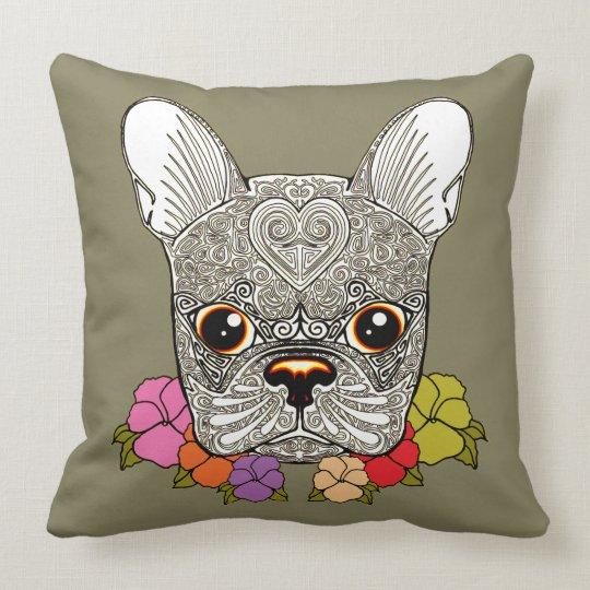 Dog's Head Throw Pillow
