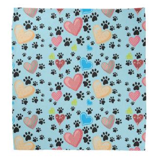 Dogs Hearts and Paws Fashion Bandana
