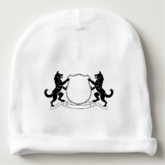 Dogs Heraldic Coat of Arms Crest Shield Baby Beanie