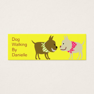 Dogs in Bandana- Pet Care Business Mini Business Card