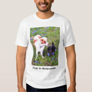 Dogs in Bluebonnets T-shirts
