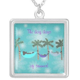Dogs in hammocks necklace