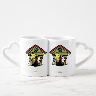 Dogs in original logo coffee mug set