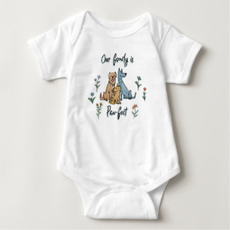 Dogs in the Garden IV   Our Family Is Paw-fect Baby Bodysuit
