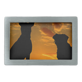 Dogs in the Sunset Belt Buckle