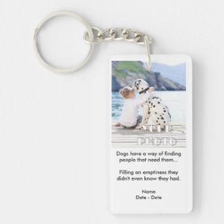 Dogs Know Pet Memorial Keychain
