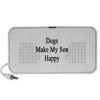 Dogs Make My Son Happy Travel Speakers