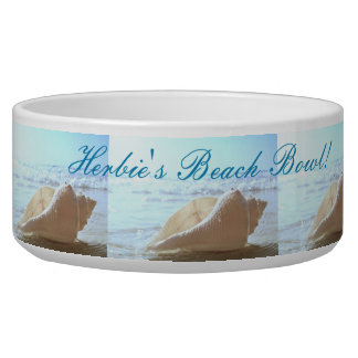 """dogs name"" Beach Bowl - SHELL AT THE OCEAN DESIGN"