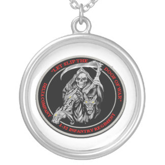 Dogs of War Round Pendant Necklace