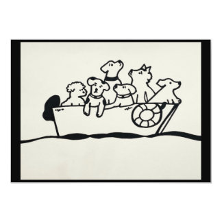 """Dogs on Boat"" Invitation by Willowcatdesigns"