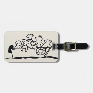 """""""Dogs on Boat"""" Luggage Tag by Willowcatdesigns"""