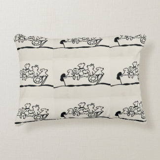 """""""Dogs on Boat"""" Pillow by Willowcatdesigns"""