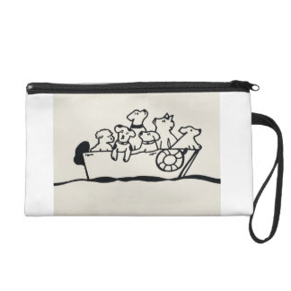 """Dogs on Boat"" wristlet by Willowcatdesigns"