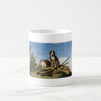 Dogs on leash Francisco José de Goya masterpiece Basic White Mug