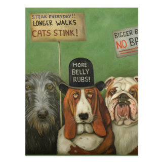 Dogs On Strike Postcard