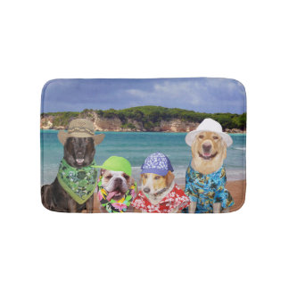 Dogs on the Beach Bath Mat