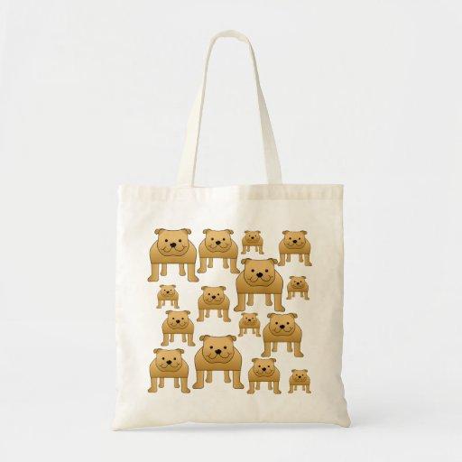 Dogs Pattern. Bulldogs. Tote Bag