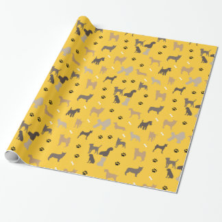 Dogs Paw Prints Pet Pattern Wrapping Paper