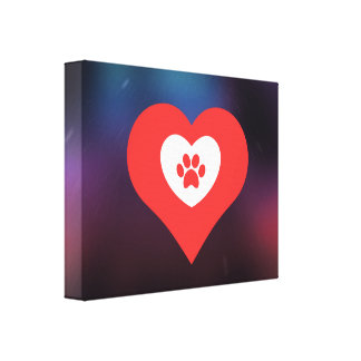 Dogs Pictogram Gallery Wrapped Canvas
