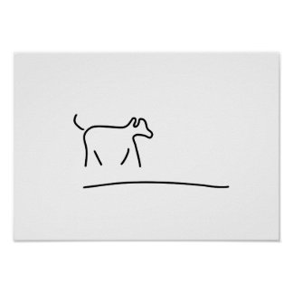 dogs play domestic animal poster