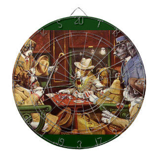 Dogs Playing Cards dart board