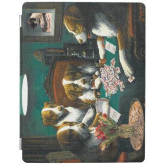 Dogs Playing Mah Jongg iPad Cover