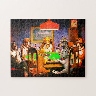 Dogs Playing Poker A Friend In Need Jigsaw Puzzle