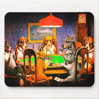 Dogs Playing Poker A Friend In Need Mouse Pad