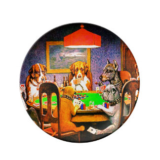 Dogs Playing Poker A Friend In Need Plate