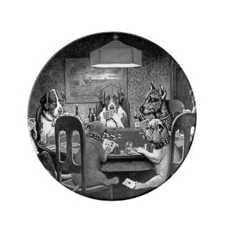 Dogs Playing Poker A Friend In Need Porcelain Plate