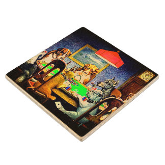 Dogs Playing Poker A Friend In Need Wood Coaster