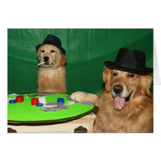 Dogs Playing Poker Birthday Card