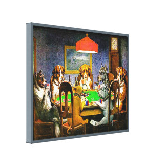 Dogs Playing Poker Canvas Print