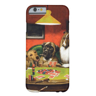 Dogs playing poker - funny dogs -dog art barely there iPhone 6 case