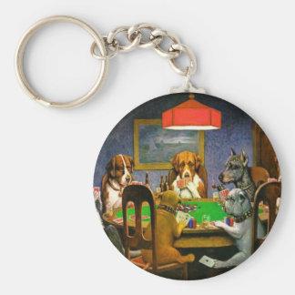 Dogs Playing Poker Key Ring