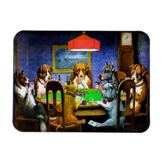 Dogs Playing Poker Magnet