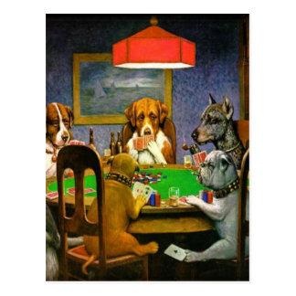 Dogs Playing Poker Postcard