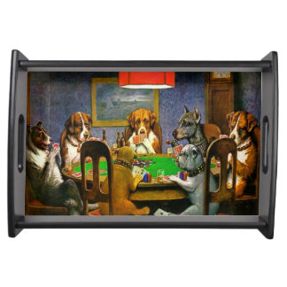 Dogs Playing Poker Serving Tray