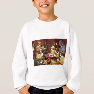 Dogs Playing Poker Sweatshirt