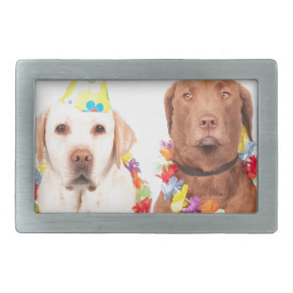 dogs rectangular belt buckles