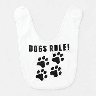 Dogs Rule Baby Bibs