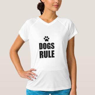 Dogs Rule Paw Pet Fan T-Shirt