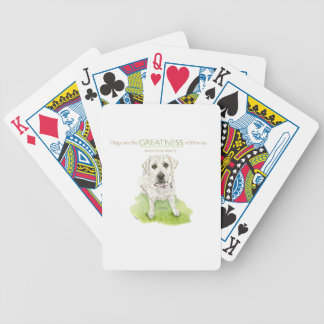 Dogs see the greatness within us watercolor bicycle playing cards