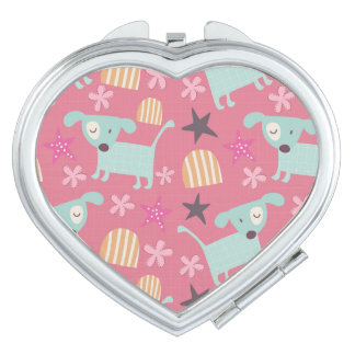 Dogs, Stars, and Flowers Compact Mirrors