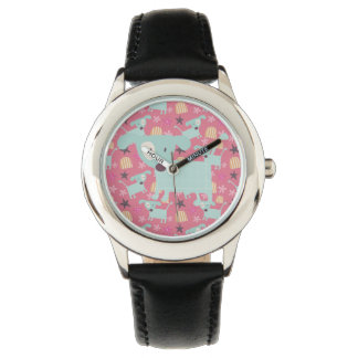 Dogs, Stars, and Flowers Watches